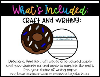 Donuts for Dad Craft and Writing