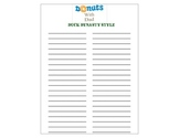 Donuts for Dads Sign Up Sheet (Duck Dynasty Style)