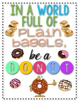 Donuts vs. Plain Bagels