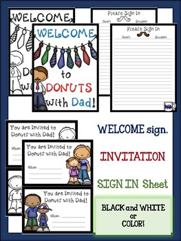 Donuts with Dad~ Activity Pack