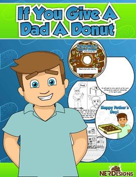 Donuts with Dad- Father's Day Craftivity: If you Give A Dad A Donut - Eng.& Esp.