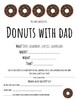 Donuts with Dad Invitation
