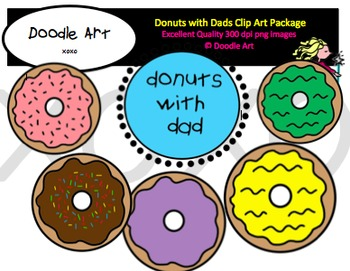 Donuts with Dads Clipart Pack