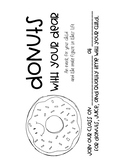 Donuts with Your Dear (Alternate Donuts with Dad Event) In