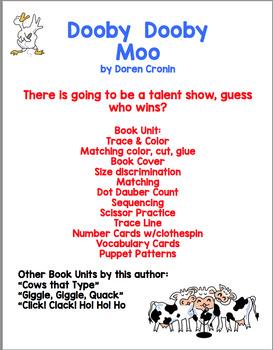 Dooby Dooby Moo Book Unit