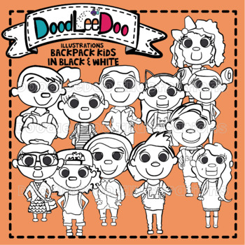DoodLeeDoo Backpack Kids line art