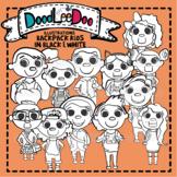 DoodLeeDoo Backpack Kids line art