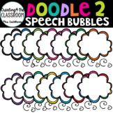 Doodle 2 Speech Bubbles {Speech Bubble Clip Art}