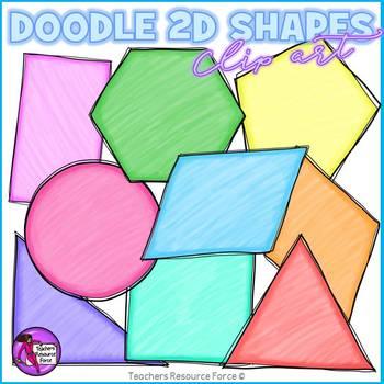 Doodle 2D Shapes clip art clipart