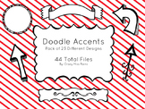 Doodle Accents Pack: Frames, Dividers, Banners, etc.