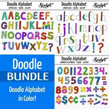 Doodle Alphabet Bundle ~ Color
