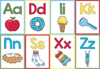 Doodle Alphabet Cards