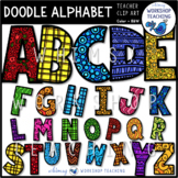 Doodle Alphabet Clip Art - Whimsy Workshop Teaching