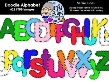 Doodle Alphabet {Colorful}