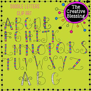 Doodle Alphabet Letters Clip Art