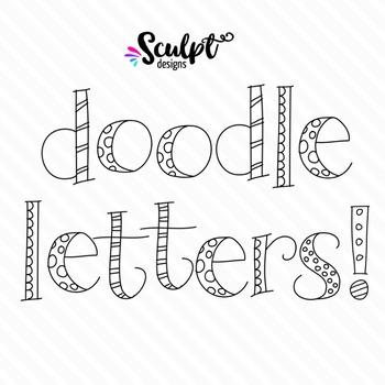 Doodle Alphabet ~ Lower Case ~ B&W