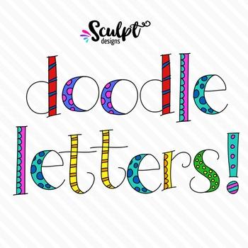 Doodle Alphabet ~ Lower Case ~ Color