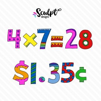 Doodle Alphabet ~ Numbers & Symbols ~ Color