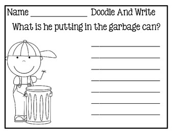 Doodle And Write Set 3 - Writing Activity