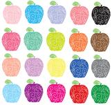 Doodle Apples Clip Art