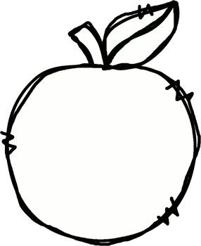 Doodle Apples Freebie! Clip Art