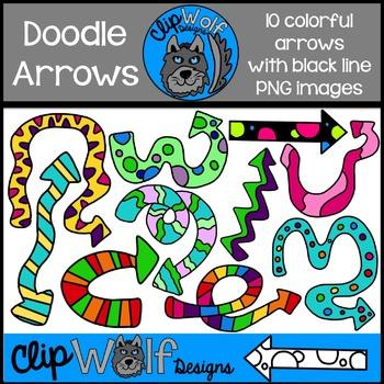 Doodle Arrow Clip Art: Personal and Commercial Use