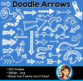 Doodle Clip Art Arrows Black and White
