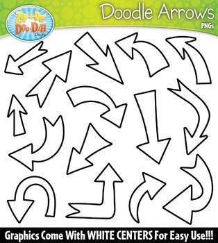 Doodle Arrows Clipart Set 1 {Zip-A-Dee-Doo-Dah Designs}