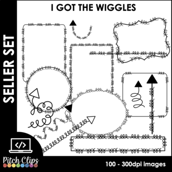 Doodle Arrows, Frames, Page Borders, Headers, and More  I GOT THE WIGGLES