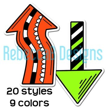 Neon Arrows Clip Art