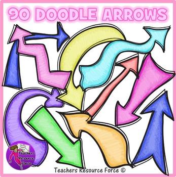 Doodle Arrows clip art clipart