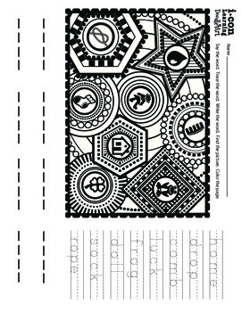 Doodle Art 4 Letter Words Worksheet - Pac 4