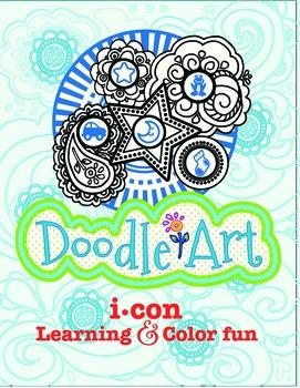 Doodle Art 4 Letter Words Worksheet - Pac 1