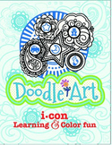 Doodle Art 4 Letter Words Worksheet - Pac 1