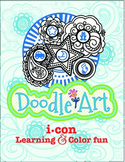 Doodle Art 4 Letter Words Worksheet - Pac 2