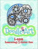 Doodle Art 4 Letter Words Worksheet - Pac 3