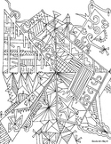 Doodle Art Alley Coloring Book