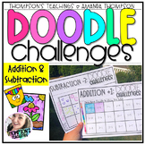 Doodle Art Challenges | Addition and Subtraction