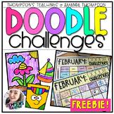 Doodle Art Challenges FREEBIE