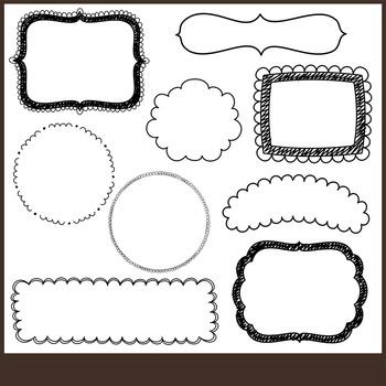 Doodle Badges ~ Doodle Frame Clip Art