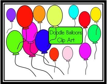 Doodle Balloons Clip Art
