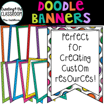 Doodle Banners {Banners Clip Art}