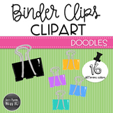 Doodle Binder Clips Clipart