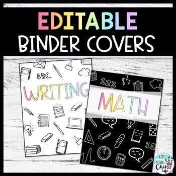 Doodle Binder Covers EDITABLE