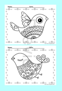 Doodle Bird Coloring Pages - 8 Designs