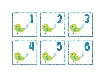 Doodle Boho Bird Themed Calendar Cards {Morning Math} Number Corner