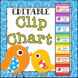 Doodle Boho Bird Behavior Clip Chart {EDITABLE} Positive Behavior Management