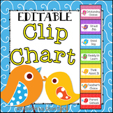 Boho Bird Themed Classroom Behavior Clip Chart {EDITABLE} Classroom Management