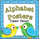 Boho Bird Themed Classroom Alphabet Posters Zaner Bloser Font