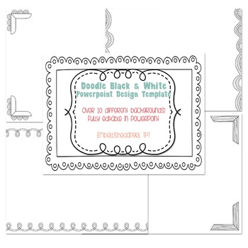 Doodle (Black and White) PowerPoint Design Template